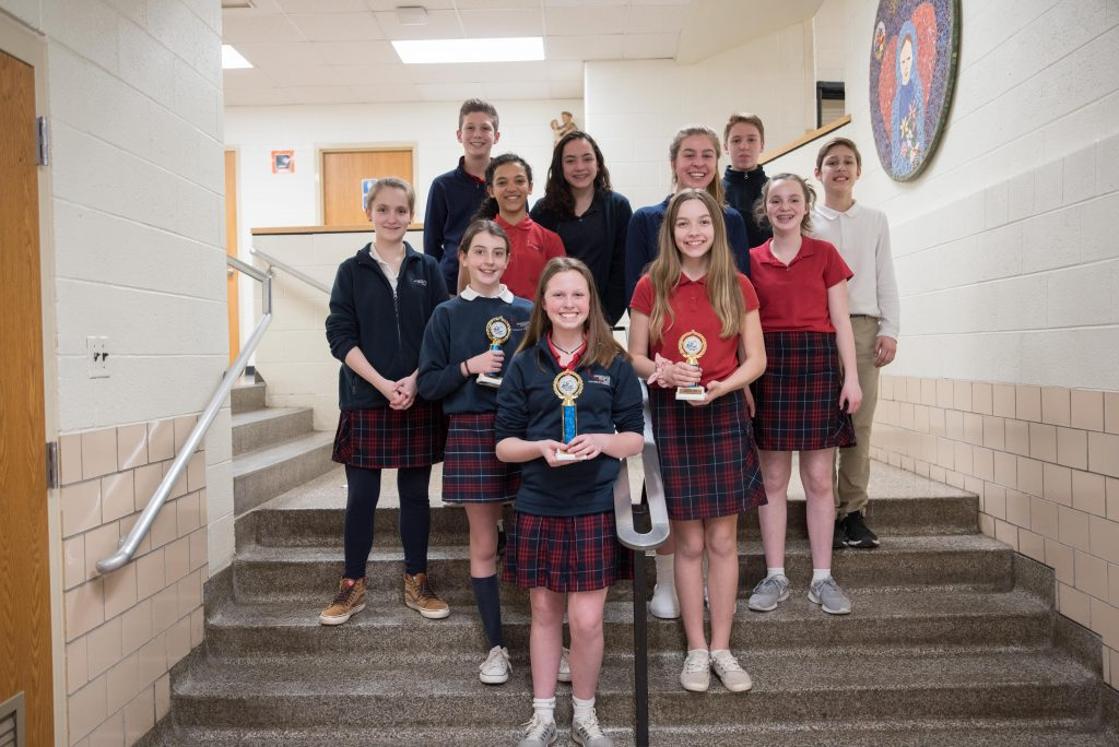 Students who won prizes at the science fair